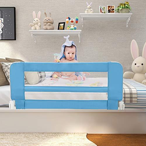 Leogreen - Barandilla de Seguridad para Cama de Bebés y Niños Pequeños, Barrera de Cama Plegable, 1,02 Metro(s),...