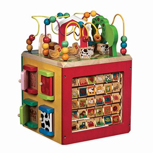 Battat- Cubo de Madera Descubre el Centro de Actividades de la Granja para niños de 1 año en adelante (Branford Ltd....
