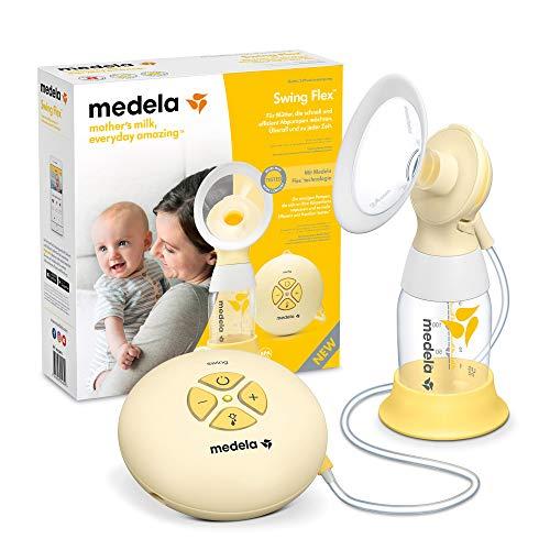 Medela Extractor de leche eléctrico individual Swing Flex - Diseño compacto, con embudos PersonalFit Flex y...