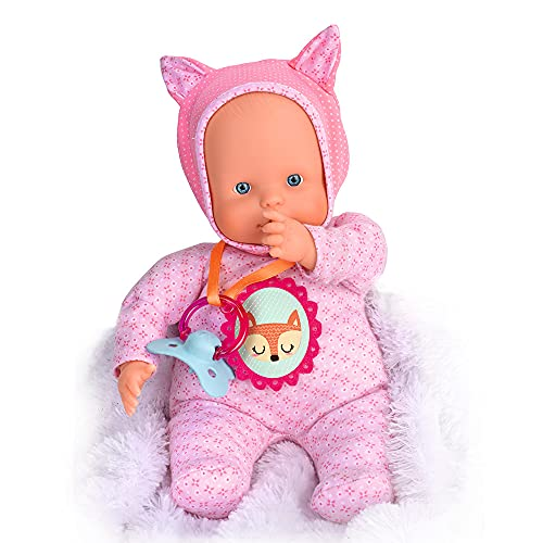 Nenuco - Blandito 5 Funciones Rosa, hace sonidos como un bebé de verdad, se ríe, llora, dice mamá y papá, hace...