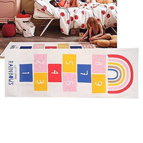 koulate Estera de rayuela para niños Ultra Suave, alfombras Antideslizantes para bebés, Piso, Juego de Gateo, Estera...