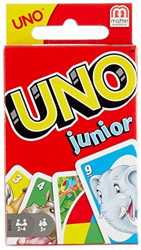 Mattel Games-UNO Junior Disney Juego de Cartas Para Niños, Multicolor, 9.1 x 6.3 x 2.3 (52456)