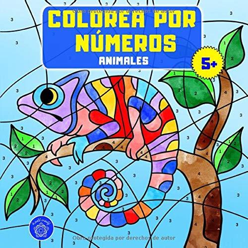 Colorea por números: Libro de colorear animales para niños a partir de 5 años + bono: mandalas de animales (colorear...