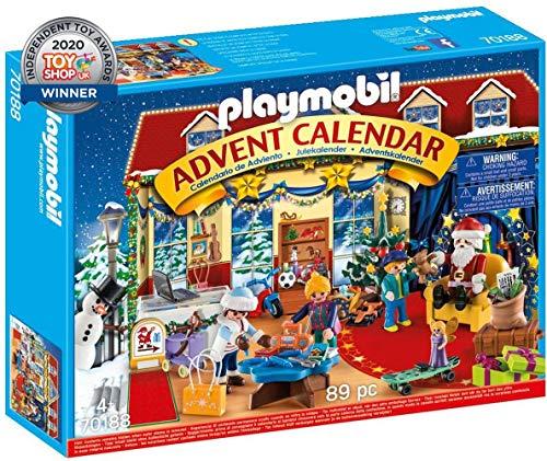 Playmobil-70188 Calendario de Adviento Navidad en el Negocio de Juguetes, a Partir de 4 años, Multicolor, Talla única...