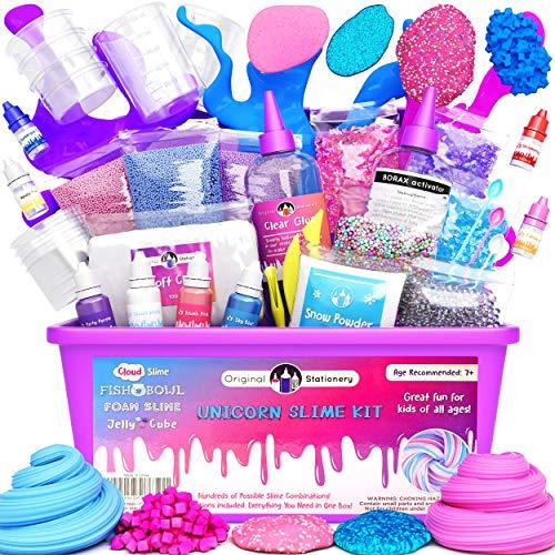 Original Stationery Unicorn Slime para Niñas, Niños - Kit Completo de Slime Kit - Regalos para niñas y niños - Slime...