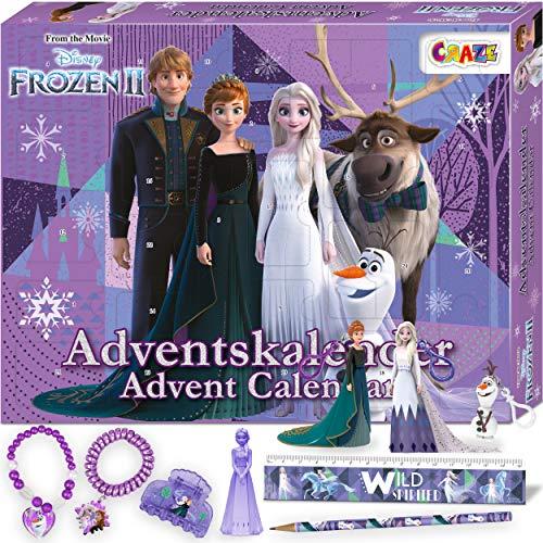 CRAZE Premium Advent Calendar 24652 adviento Navidad 2020 Frozen II Reina de Las Nieves para niñas Calendario de...