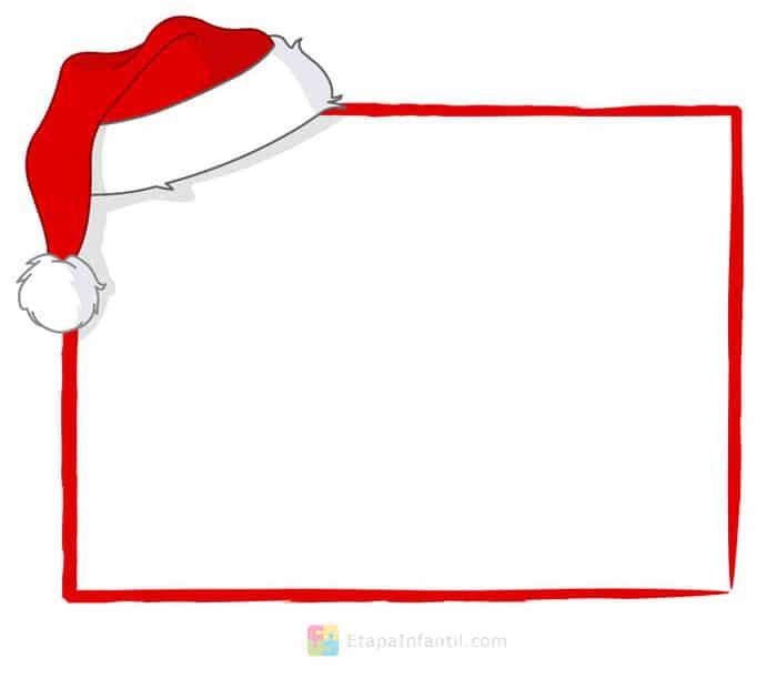 Carta para Papa Noel para imprimir gratis