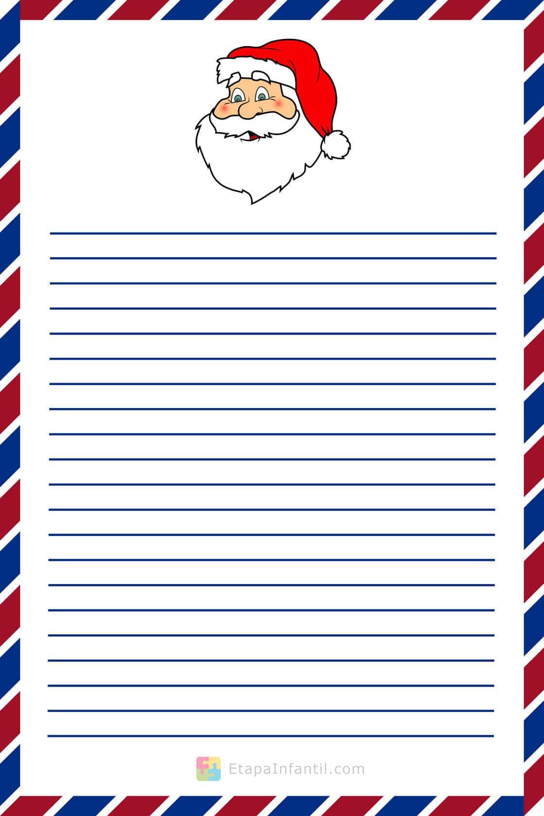 Carta a Papá Noel para imprimir - Etapa Infantil
