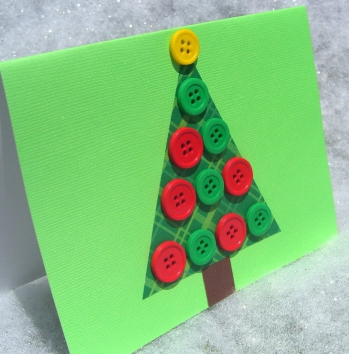 ejemplo de postal de navidad con botones