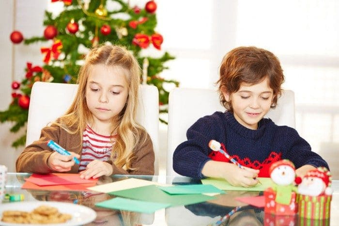Postales de Navidad manualidades para niños