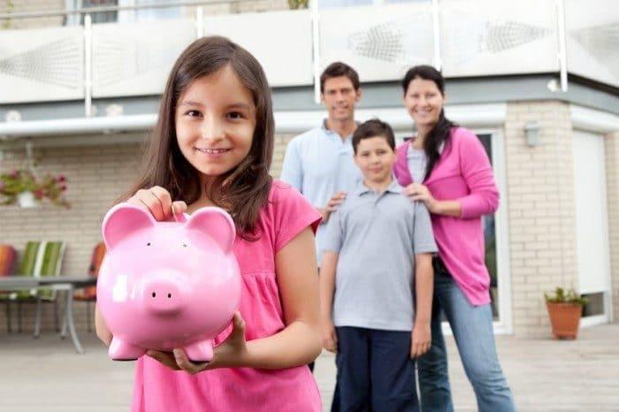 Enseñar niños ahorrar dinero