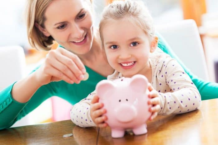 Valor dinero para niños