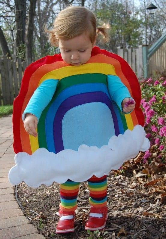 Disfraz infantil de arcoíris