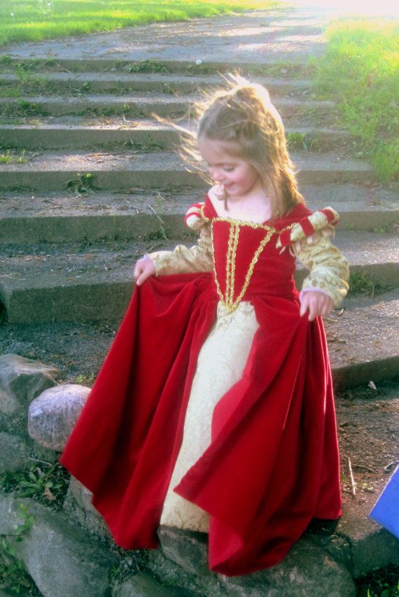 Disfraz dama medieval niña