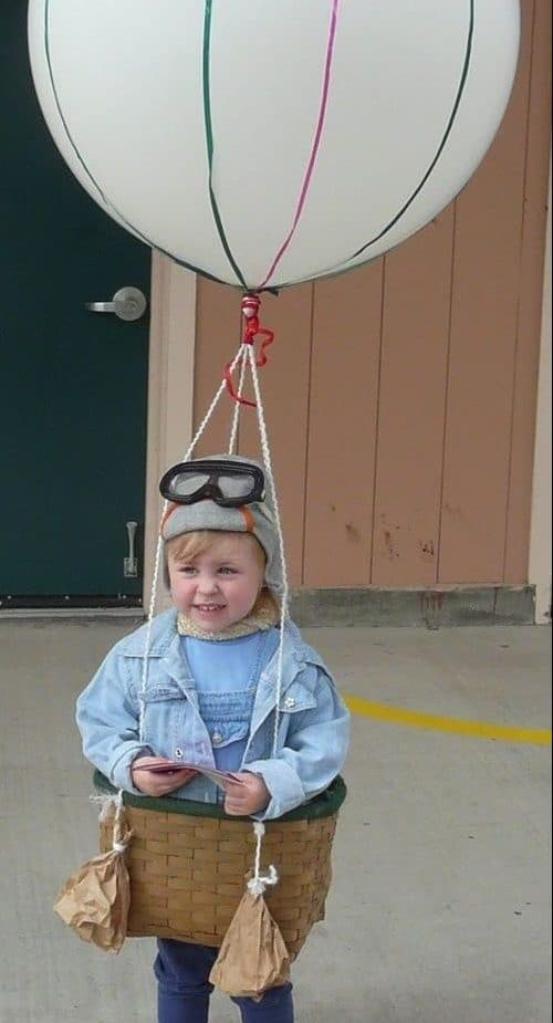 Disfraz infantil de globo aerostático