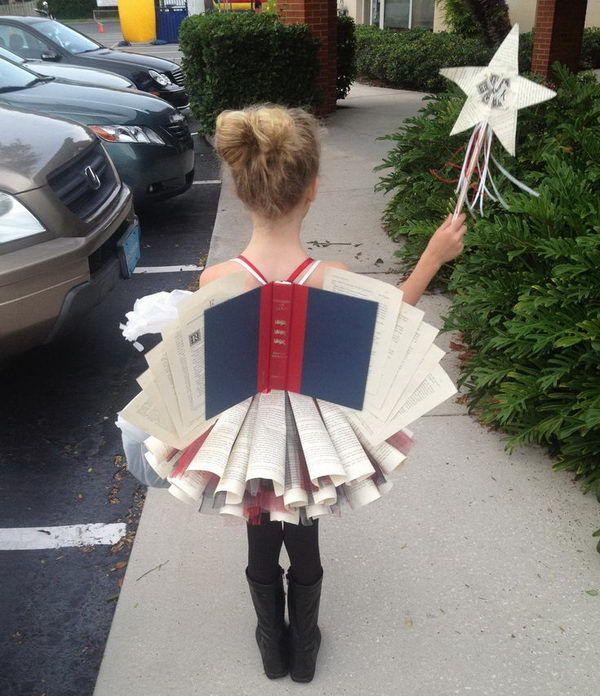 Disfraz infantil original de hada de los libros