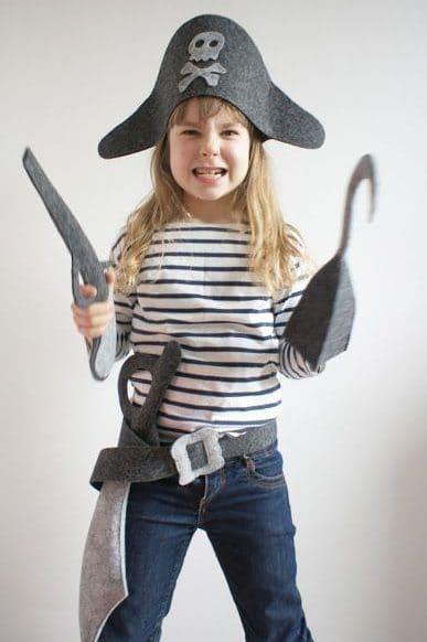 Disfraz infantil de pirata