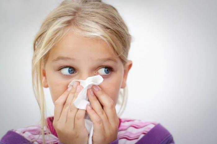 Alergias primaverales en niños