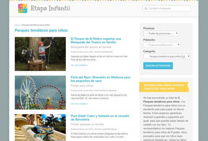 Parques temáticos para niños Actividades Infantiles Etapa Infantil
