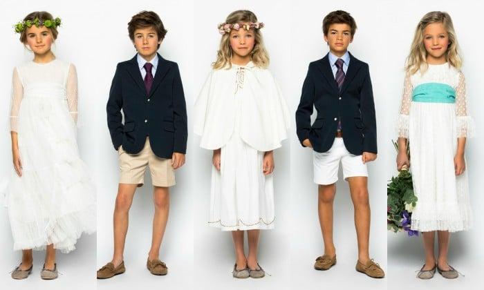 Vestidos y trajes comunión niña y niño 2015