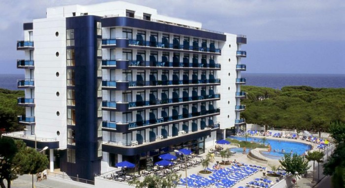 Hotel Blaucel, en Blanes, Costa Brava