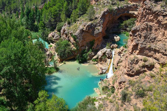 Piscina natural Las Chorreras en Cuenca