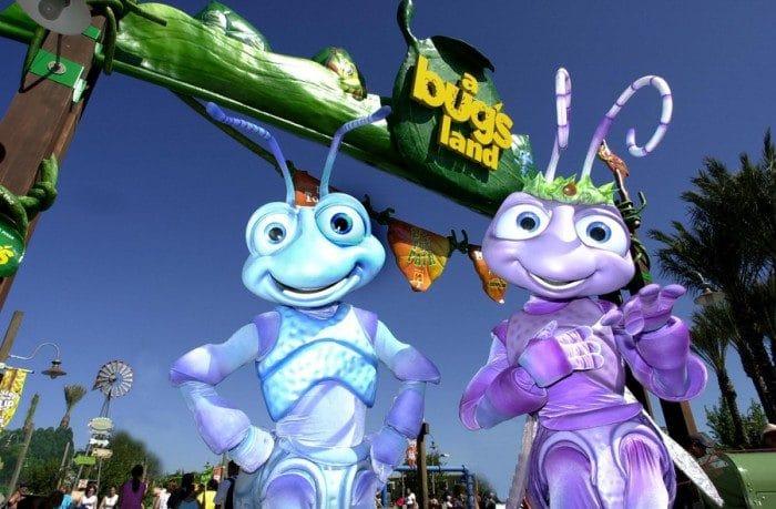 Bichos en Parque Disneyland, en Anaheim, California
