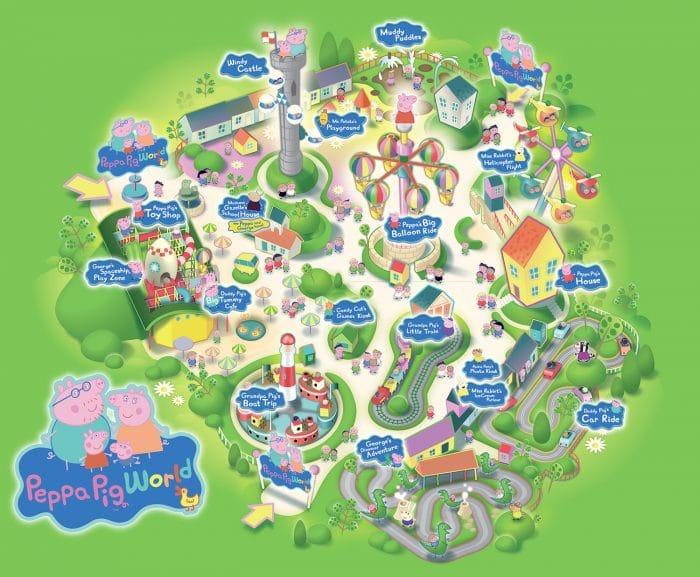 Mapa del parque Peppa Pig World