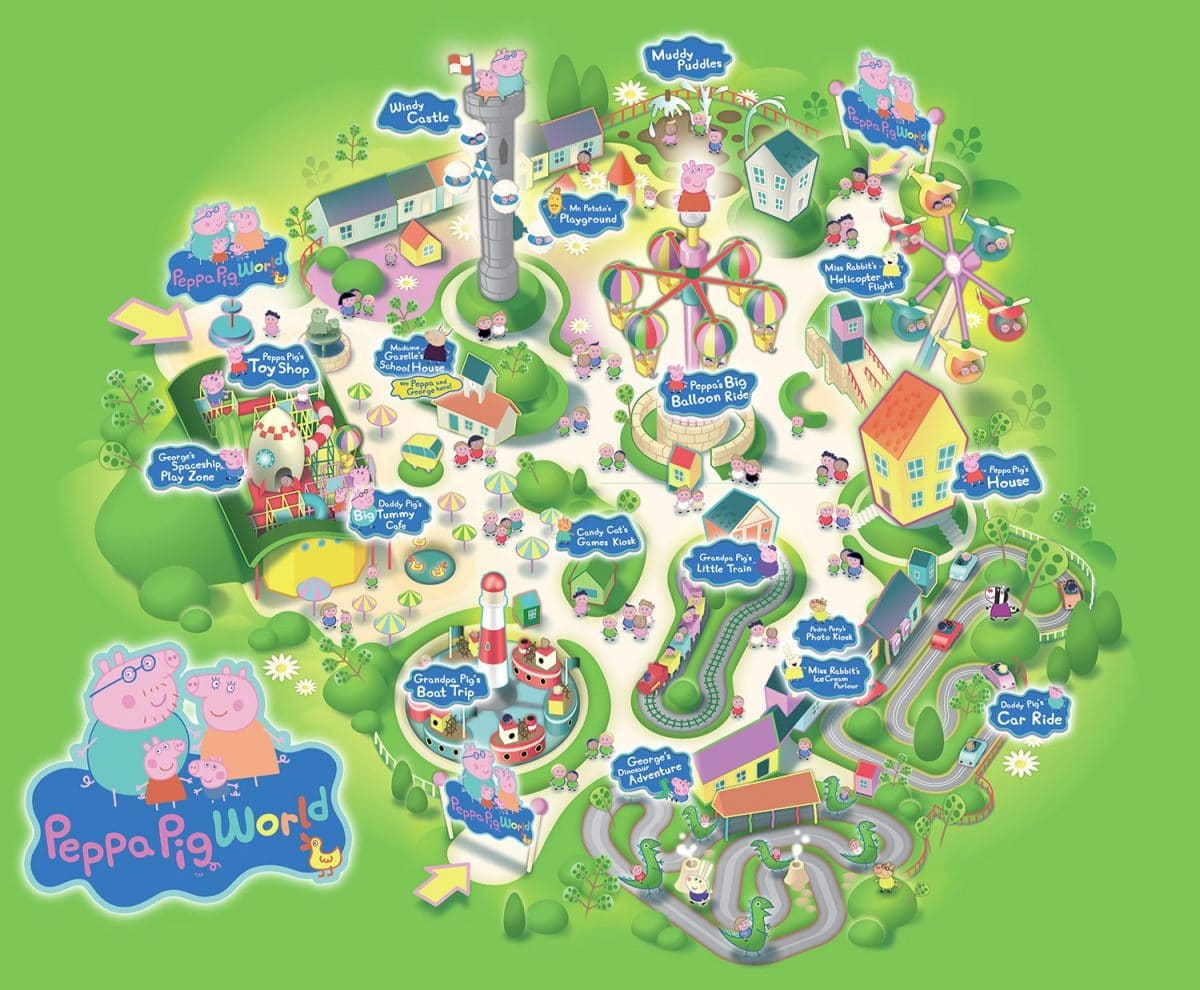 Mapa del parque Peppa Pig World