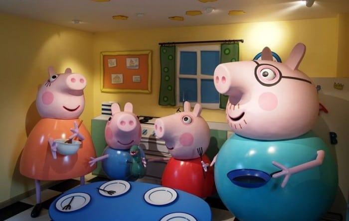 Casita donde vive la familia Pig