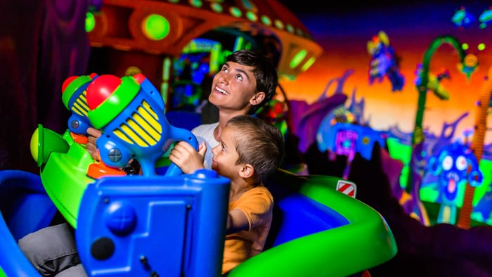 Buzz Lightyear en parque de atracciones Magic Kingdom, en Orlando, Florida