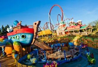 Parque de atracciones PortAventura World, en Salou, Tarragona, España