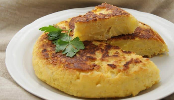 Receta Tortilla de patata vegana