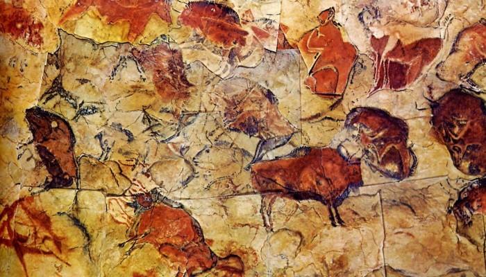 Arte paleolítico de la cueva de Altamira en Cantabria