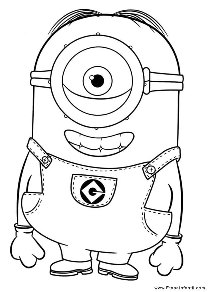 Dibujo para imprimir y colorear Minions