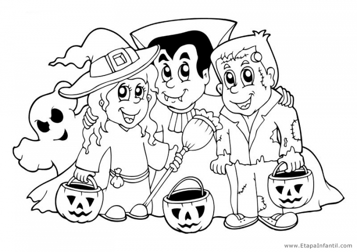 Dibujos para imprimir y colorear en Halloween   Etapa Infantil