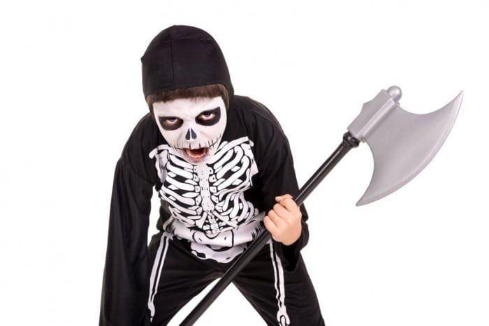 Disfraz de esqueleto para niños en Halloween