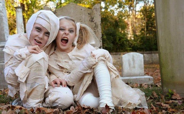 Disfraz casero de momia egipcia paraHalloween