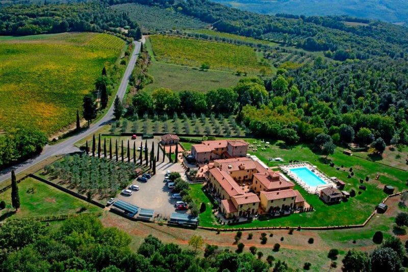 Hotel Casolare Le Terre Rosse, en San Gimignano, Toscana, Italia