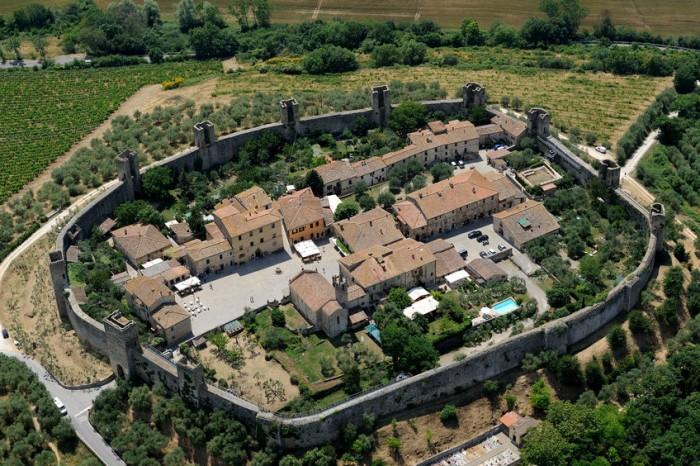 Monteriggioni, Toscana, Italia