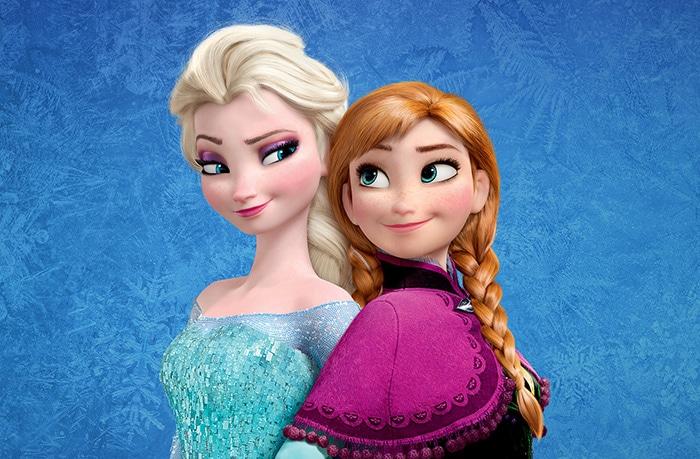 Princesas Anna y Elsa, personajes de Frozen