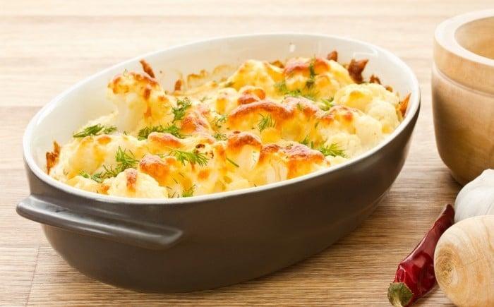 Receta con verduras para niños Soufflé de coliflor