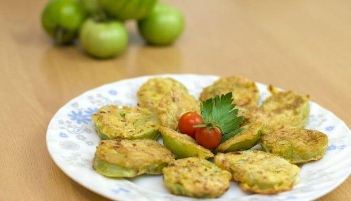 Recetas con verduras para niños Tomates verdes fritos