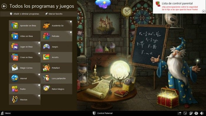 Windows para niños Magic Desktop