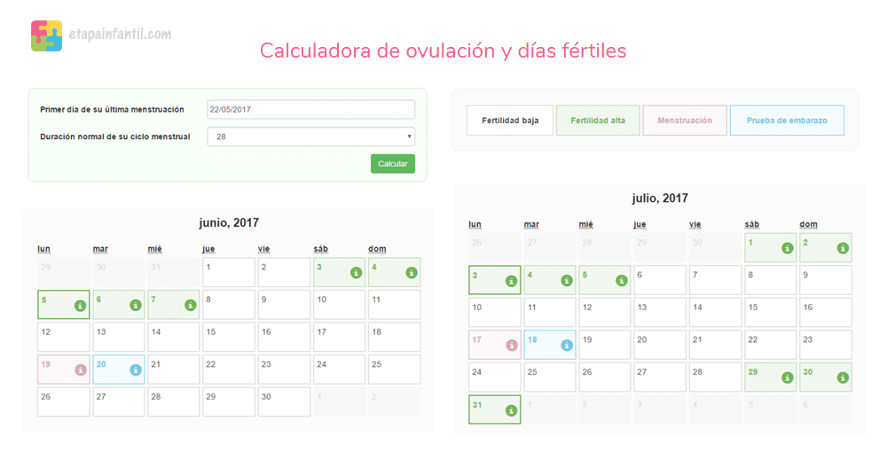Calendario Chino Embarazo Real.Calculadora De Ovulacion Y Dias Fertiles