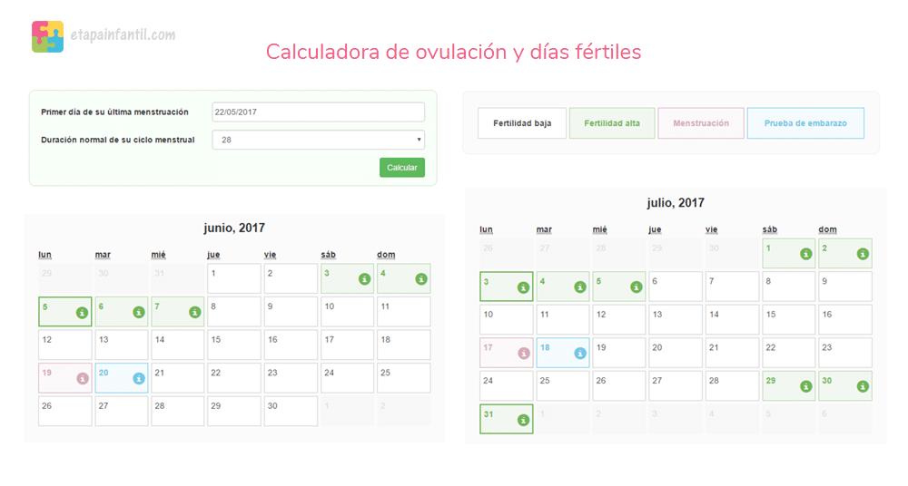 Calculadora ovulacion nina fiable