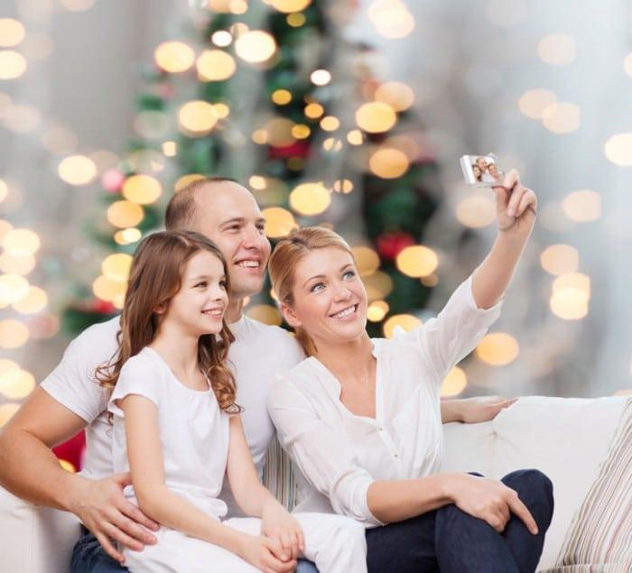 Disfrutar de las fiestas de Navidad en familia