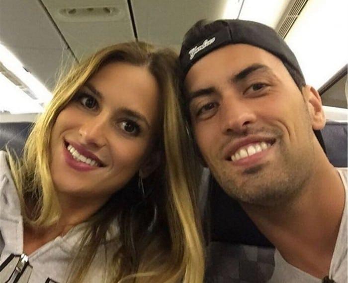 Elena Galera y Sergio Busquets