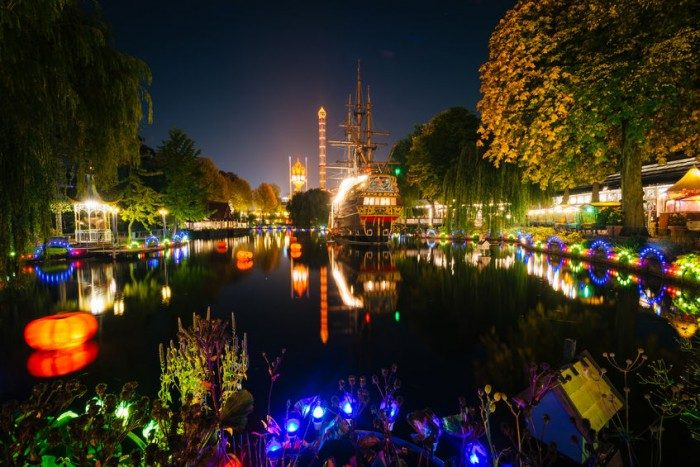 Jardines de Tivoli, en Copenhague, Dinamarca