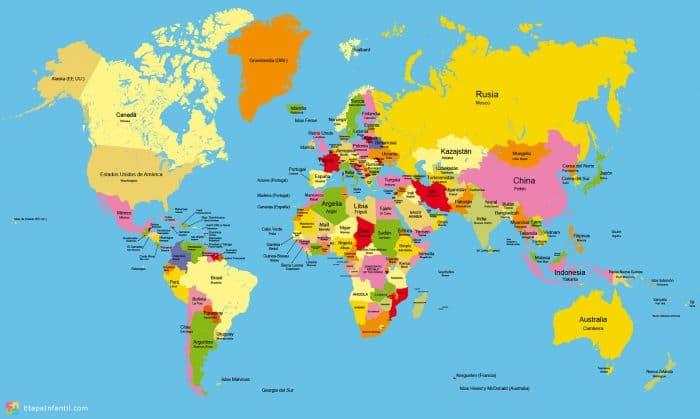 Mapamundi Los 7 Mapamundis Tematicos Mas Utilizados Para Imprimir